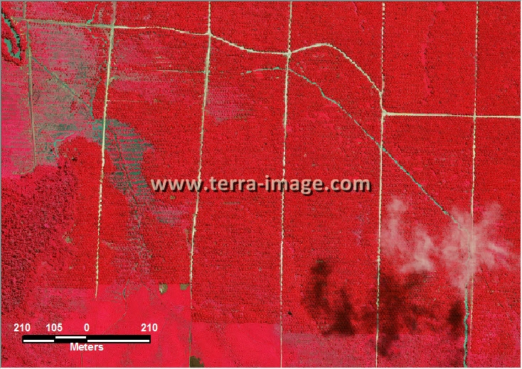 Citra Satelitcitra satelit worldview-2 red color sangkuliran kutai