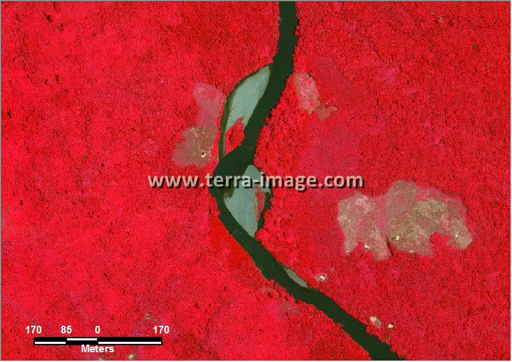 citra satelit worldview-2 red color kutai timur