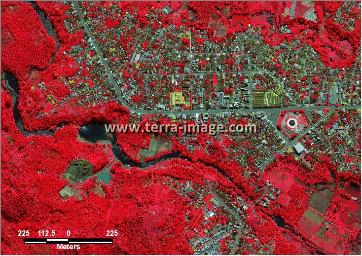citra satelit worldview-2 red color bengkulu