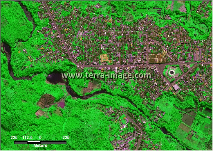 citra satelit worldview-2 green color bengkulu