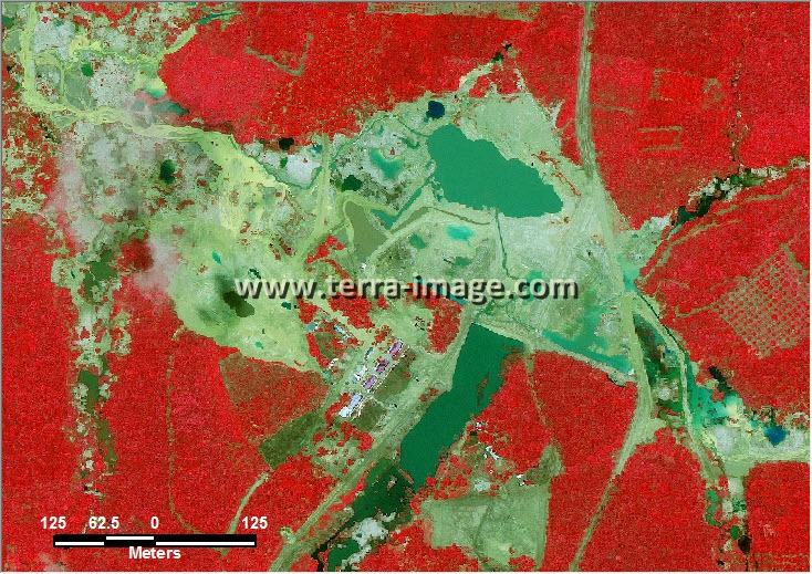 citra satelit worldview-2 red color bangka belitung