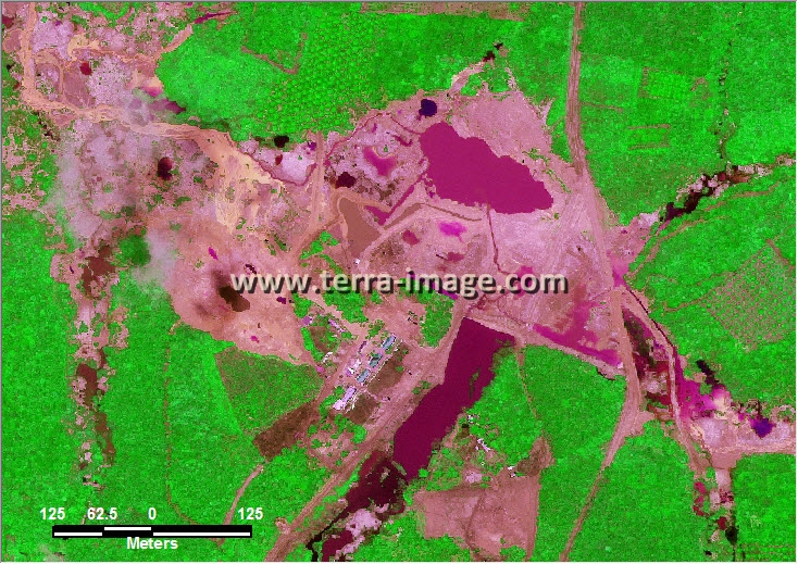 citra satelit worldview-2 green color bangka belitung