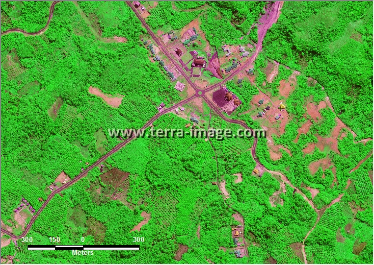 citra satelit worldview-2 green color bintuhan bengkulu