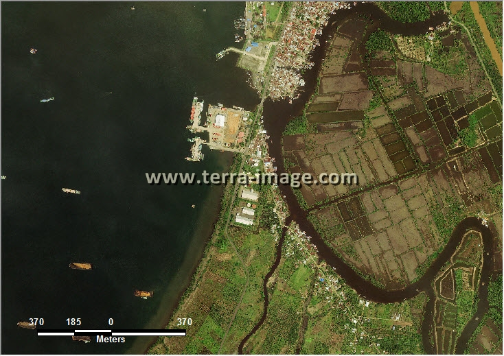 citra satelit worldview-2 natural color kota bengkulu
