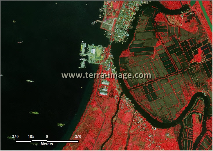 citra satelit worldview-2 red color kota bengkulu