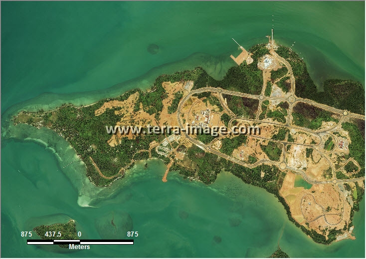 citra satelit worldview-2 natural color tanjungpinang riau