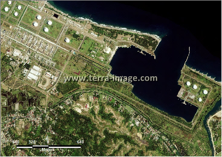 citra satelit worldview-2 natural lhokseumawe aceh