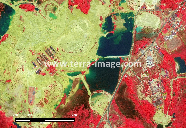 citra satelit worldview-2 red color tembeling, kep riau