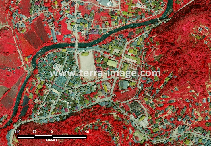 citra satelit worldview-2 red color mamasa sulawesi barat