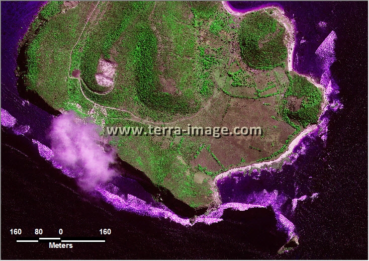 citra satelit worldview-2 green color lombok tengah