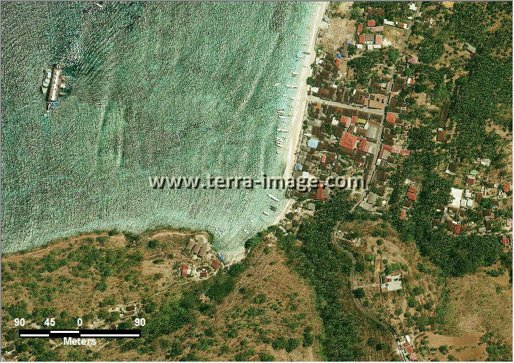 citra satelit worldview-2 natural color klungkung bali