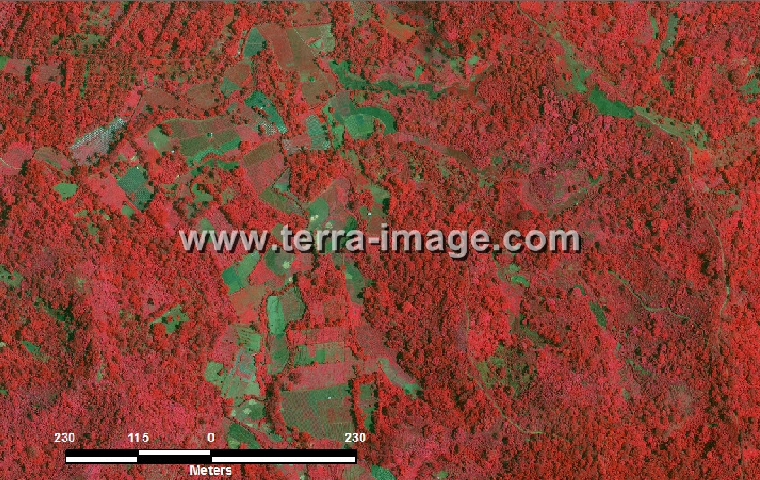 citra satelit worldview-2 red color tanggamus lampung