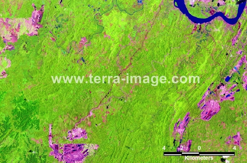 23 Kutai Landsat Green Citra Satelit