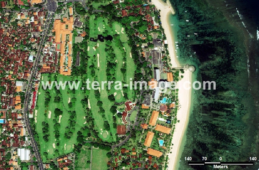 30 Renom Denpasar WorldView-2 Natural Citra Satelit