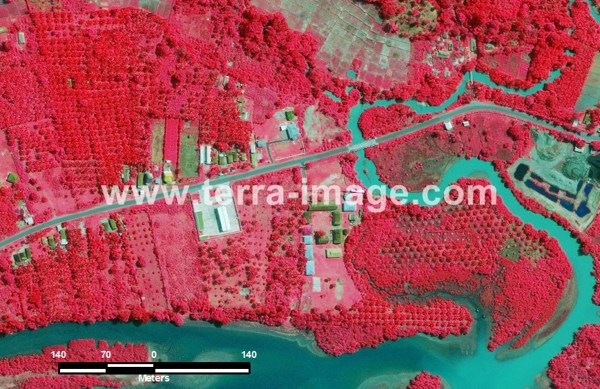 39 Linau WorldView2 Red color Citra Satelit