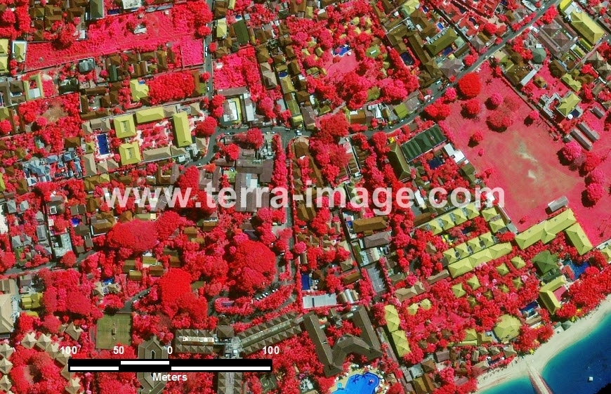 40 Denpasar GeoEye-1 Red Color Citra Satelit_
