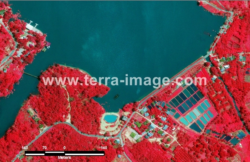 41 Pekanbaru WorldView2 Red Color Citra Satelit