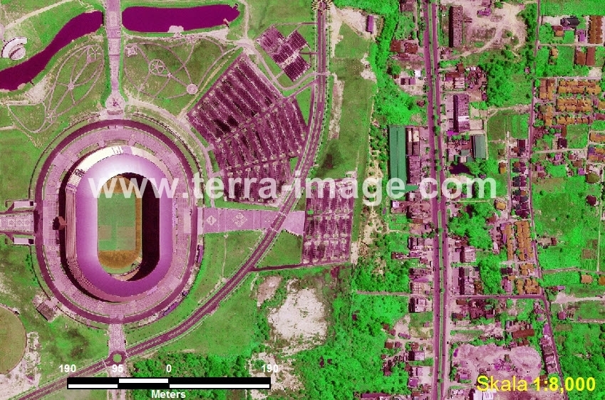 43 Delima Pekanbaru Green Color Citra Satelit