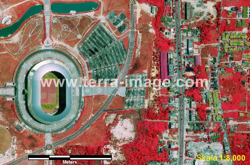 43 Delima Pekanbaru Red Color Citra Satelit