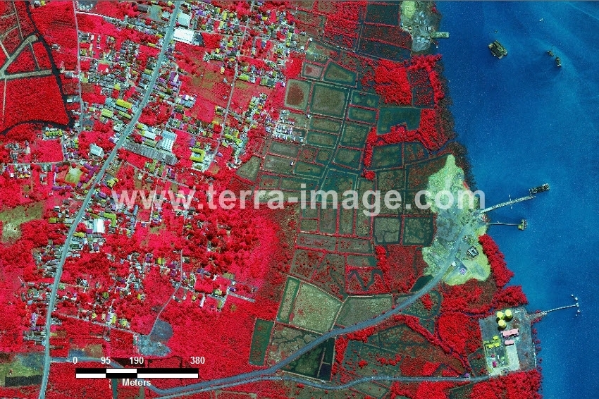 58 Batulicin WorldView-2 Red Color Foto citra satelit