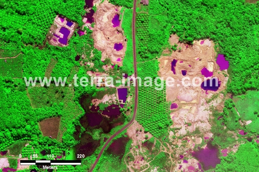 59 Pangkalpinang WorldView-2 Green Color Foto citra satelit