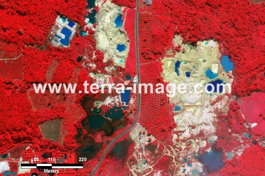 59 Pangkalpinang WorldView-2 Red Color Foto citra satelit