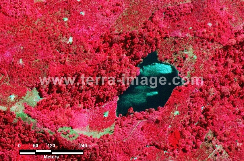 63 Lahat WorldView-2 Red Color citra satelit