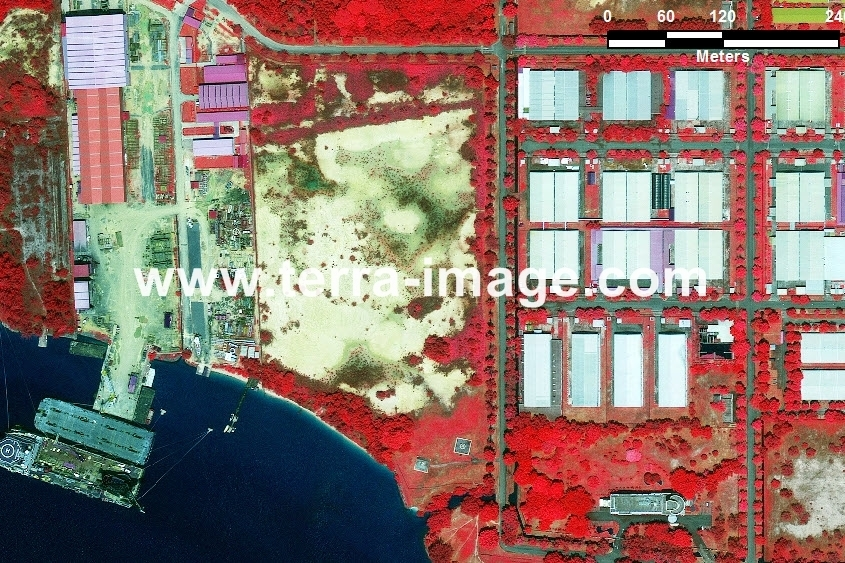 66 Bintan WorldView-2 Red Color citra satelit