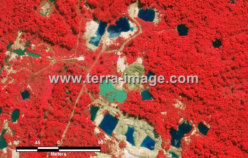 Foto Citra satelit  Red Bangka Belitung