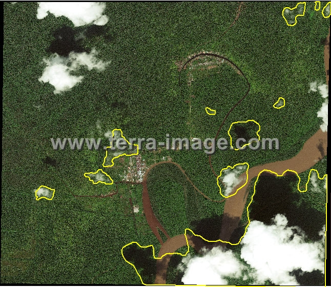 Pengolahan Data Citra Satelit WorldView-2 cloud remove