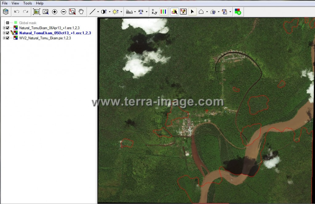 Pengolahan Data Citra Satelit WorldView-2 proses mosaic