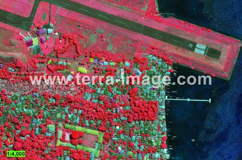 11 WorldView-2 Red Pulau Banda citra satelit